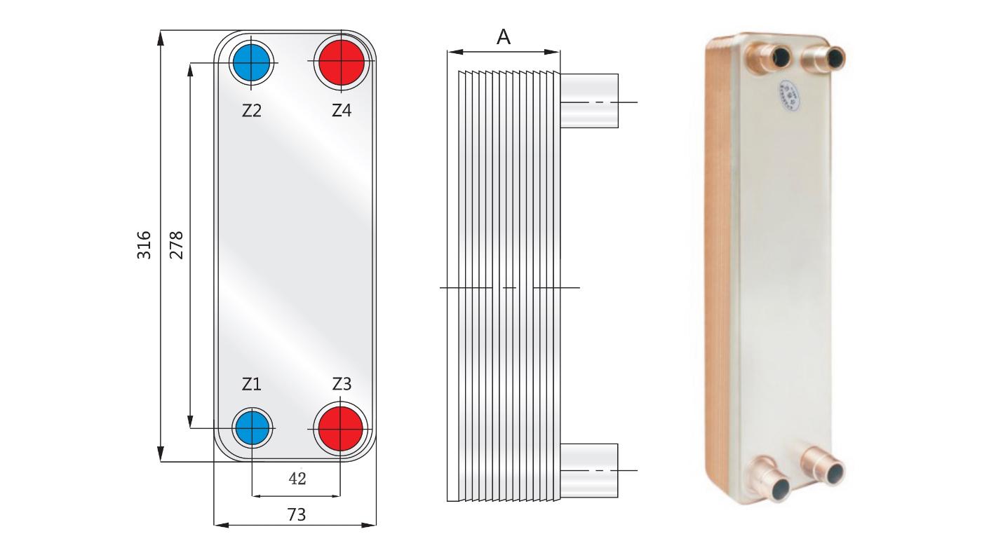 水水板式换热器